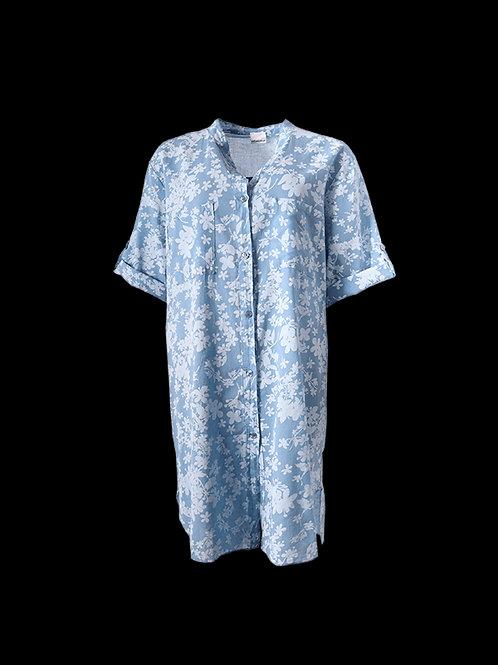 Blue floral Shirt Dress