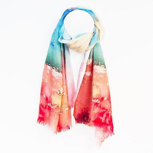 Artist mirrored horizon scarf
