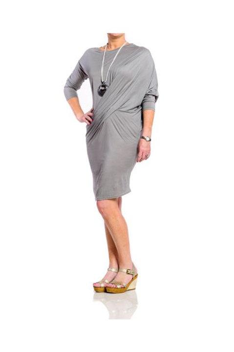 Twist Waist Jersey Dress
