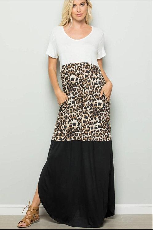 Ivory maxi dress with pockets