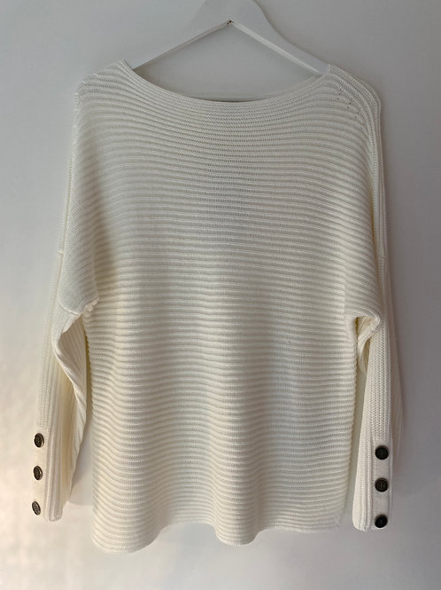 Ivory ribbed jumper