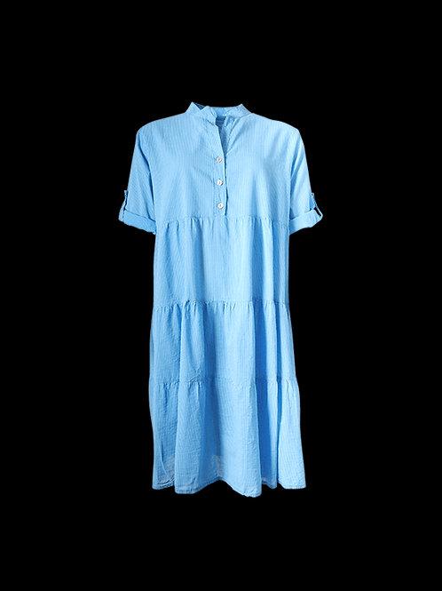 Blue Cotton pinstripe dress