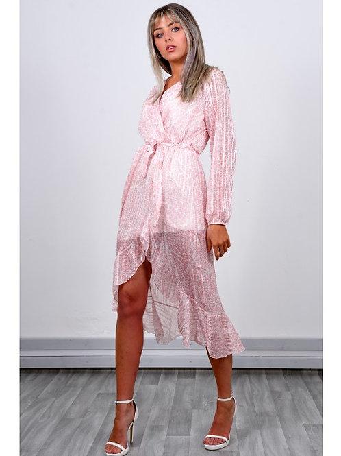 Pink tie dress