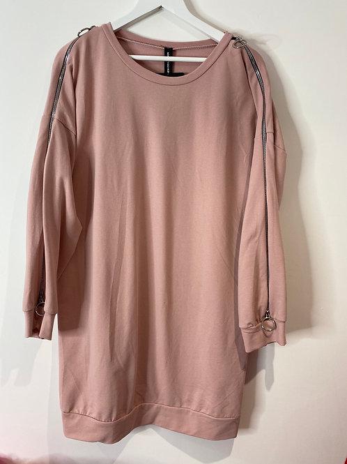 Pink zip top