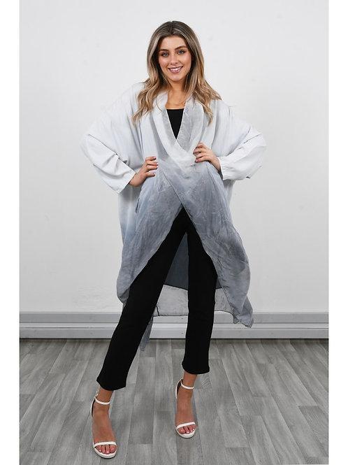 Grey silky tunic