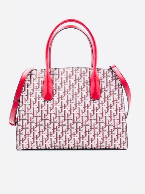 Red printed bag