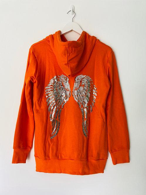 Orange angel wing hoodie