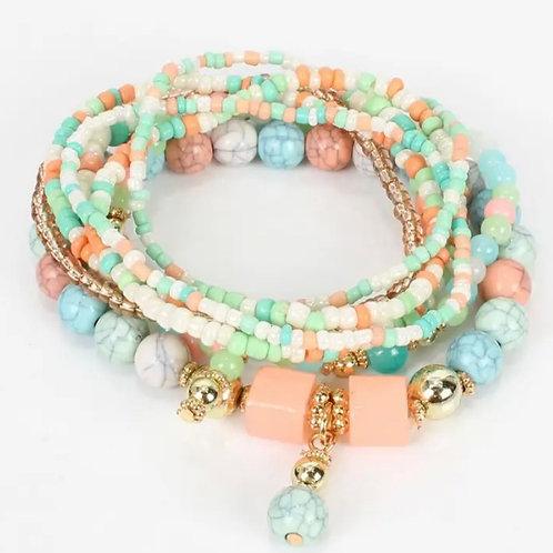 Florida flamingo bracelet set