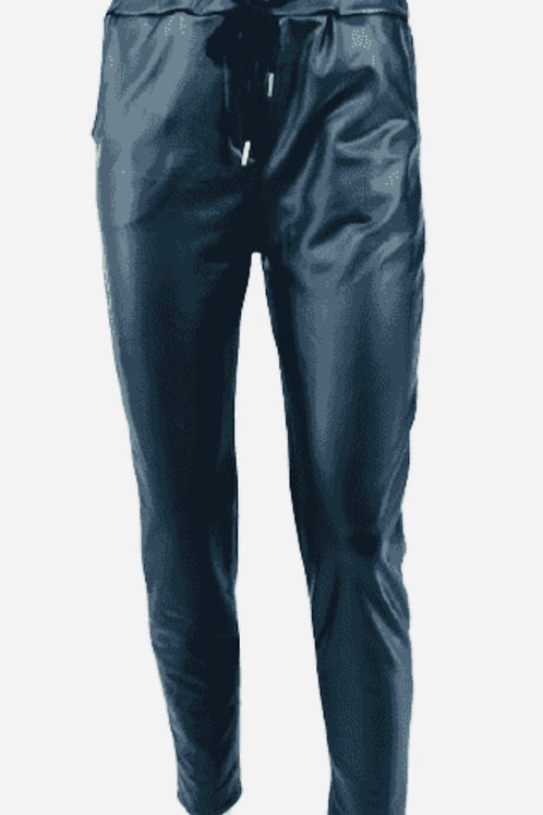 Navy plether magic trousers