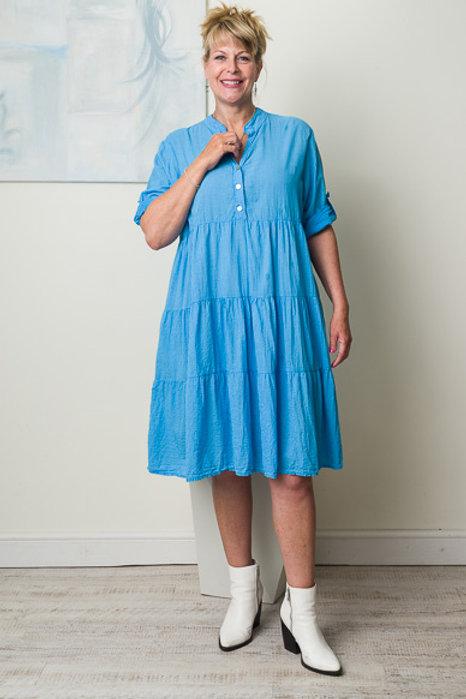 Blue midi smock dress