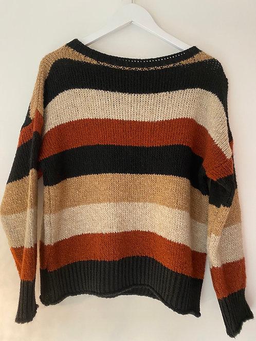 Brown stripe jumper