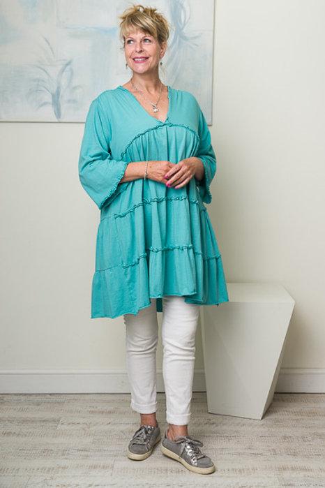 Aqua smock dress