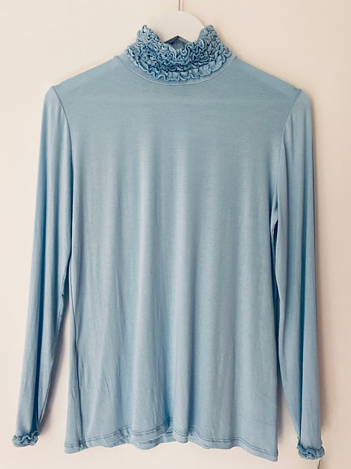 Baby blue basic top