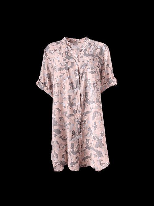 Pink/Grey Camo Shirt Dress