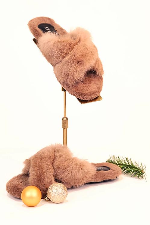 Mocha Fur slippers