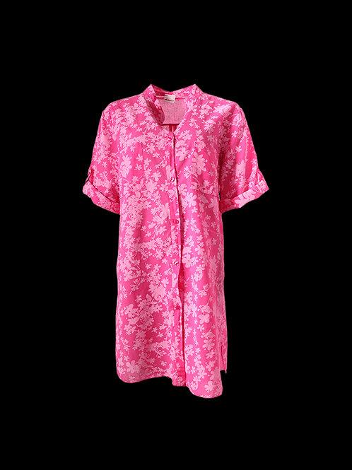 Fuchsia floral Shirt Dress