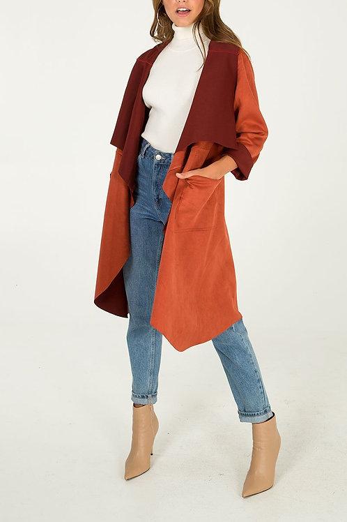 Tan suedette jacket
