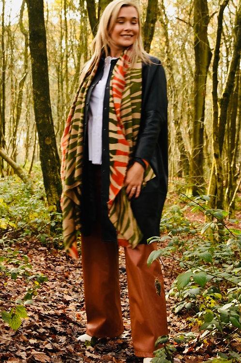 Zebra luxury scarf