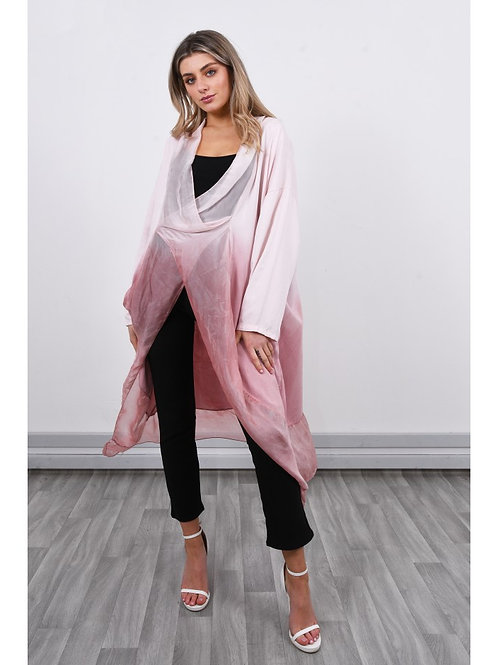 Pink silky tunic