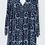 Thumbnail: Navy smock dress