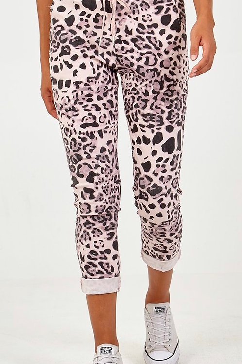 Pink leopard magic trousers