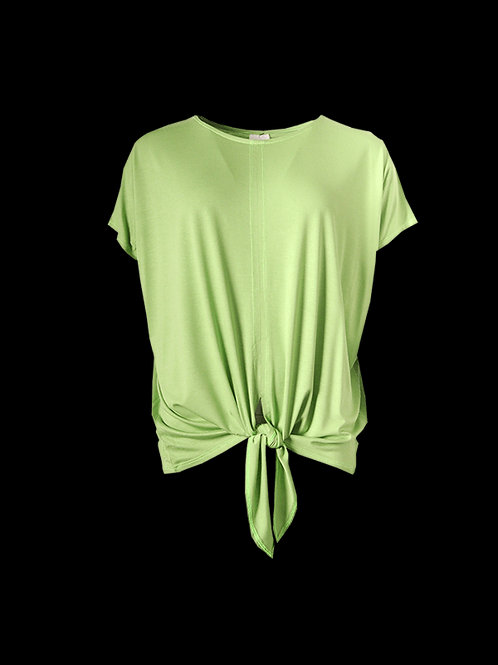 Lime Tie Front Top