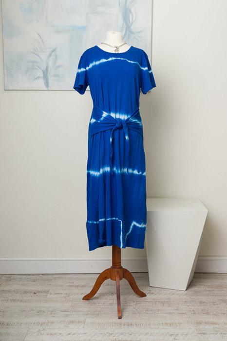 Cobalt tie dye  dress