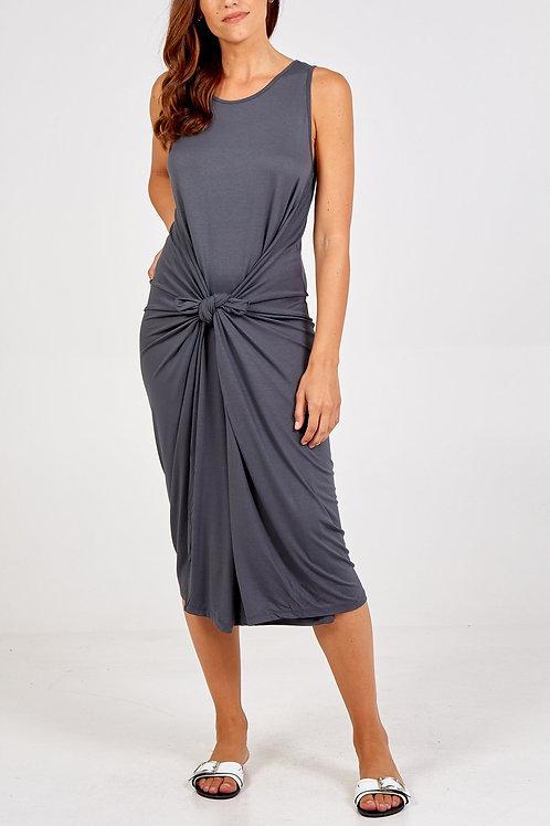 Slate grey parachute dress