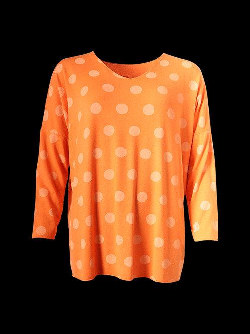 Orange spot print top