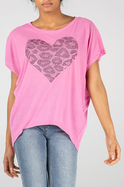 Pink diamond heart top