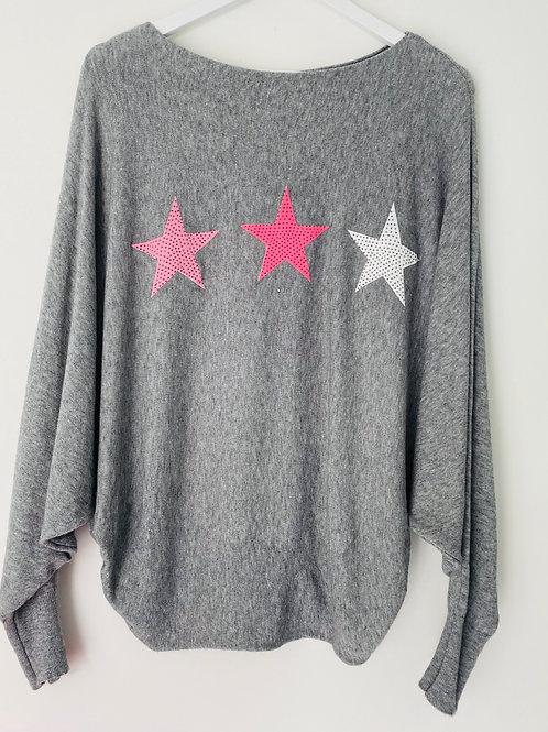 Grey tristar top