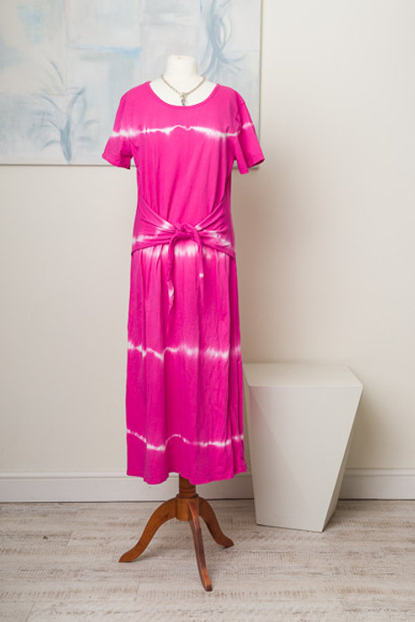 Cerise tie dye  dress