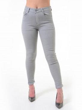 Steel grey skinny jeans