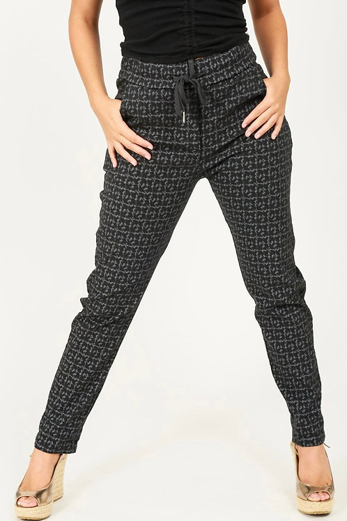 Charcoal geometric magic trousers