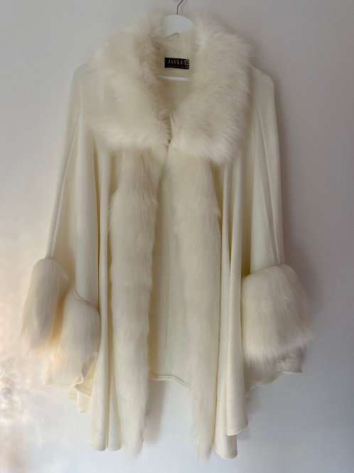 Ivory cape coat