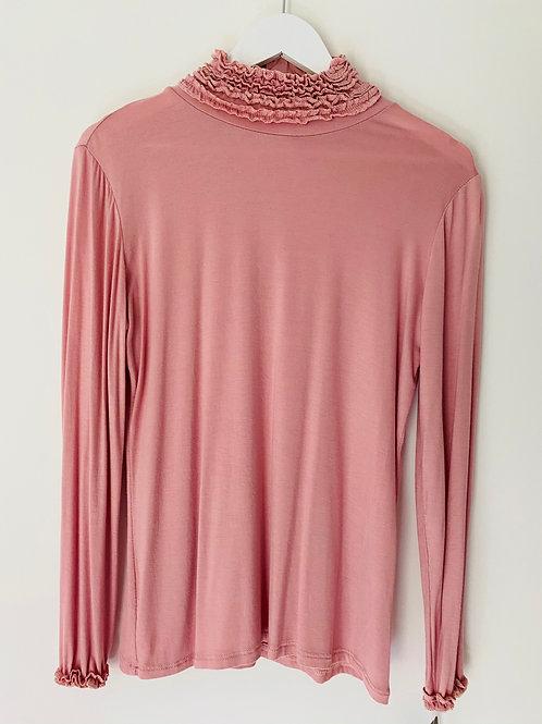 Dusky pink basic top