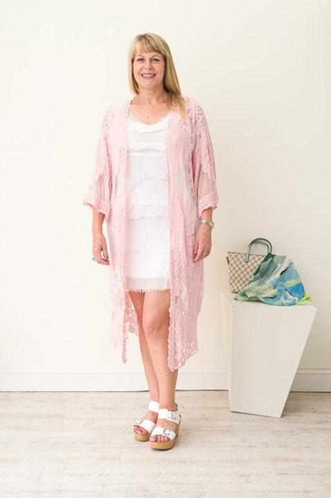 Pink lace jacket