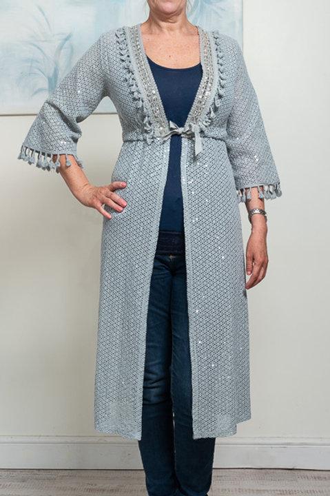 Grey lace kimono