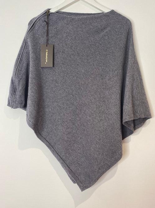 Soft grey poncho