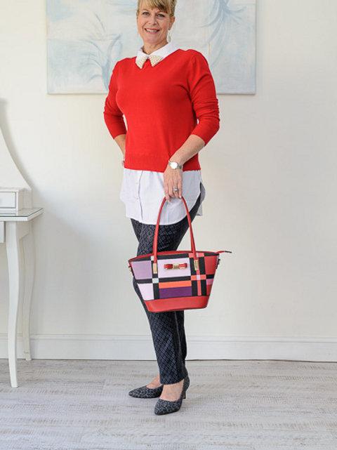 Red shirt jumper