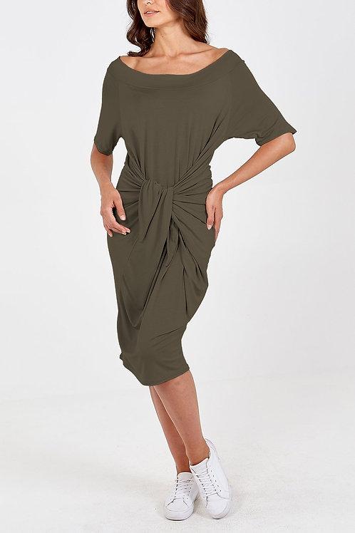 Khaki parachute dress