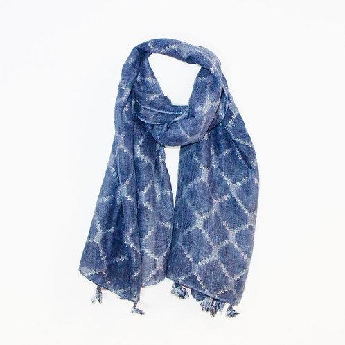Blue vintage wash diamond
