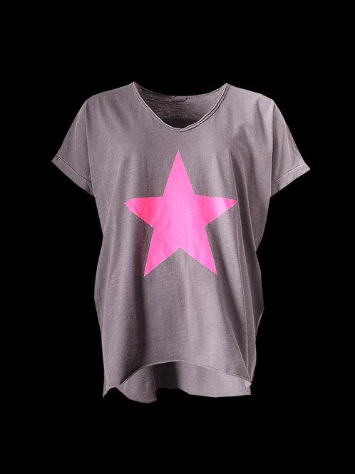 Light grey/pink star top