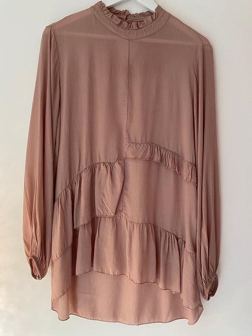 Blush frill blouse