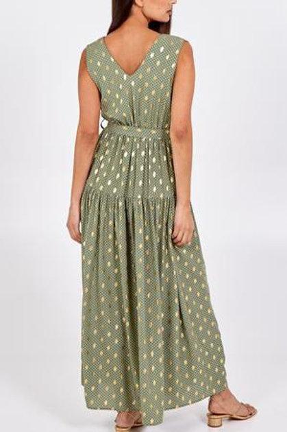 Foil spot print dress