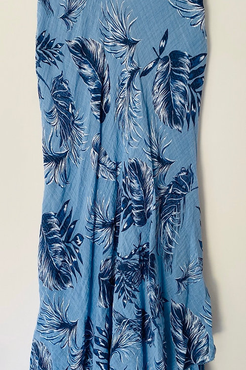 Blue leafy double layer dress