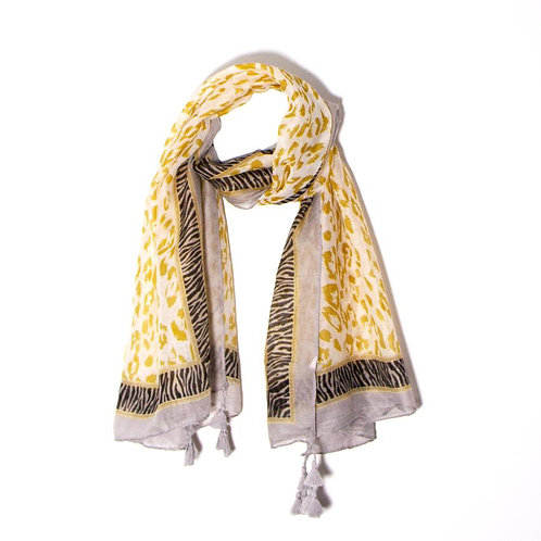 Mustard leopard/zebra print