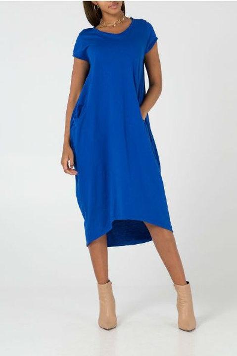 Blue pocket dress