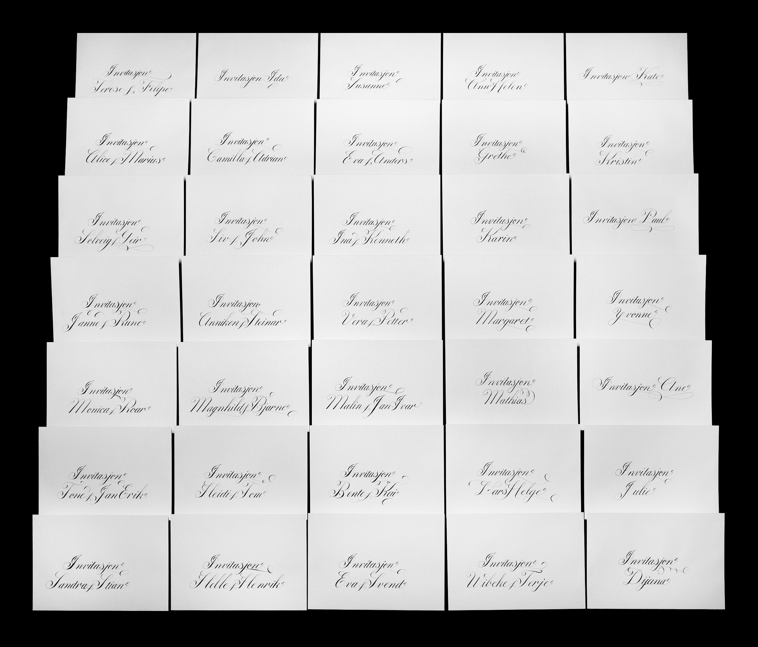 Bryllups konvolutter