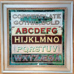 Copperplate example alphabet